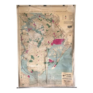 1940s Vintage Map of Brooklyn and Queens For Sale