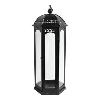 Ball Top Large Iron Lantern For Sale
