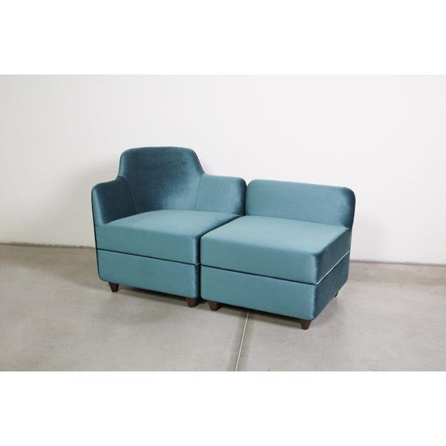Mid-Century Modern Angolo Seating Group by Corrado Corradi Dell'Acqua for Tato For Sale - Image 3 of 9