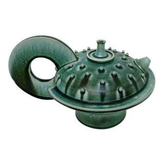 Vintage Artisan Ceramic Teapot