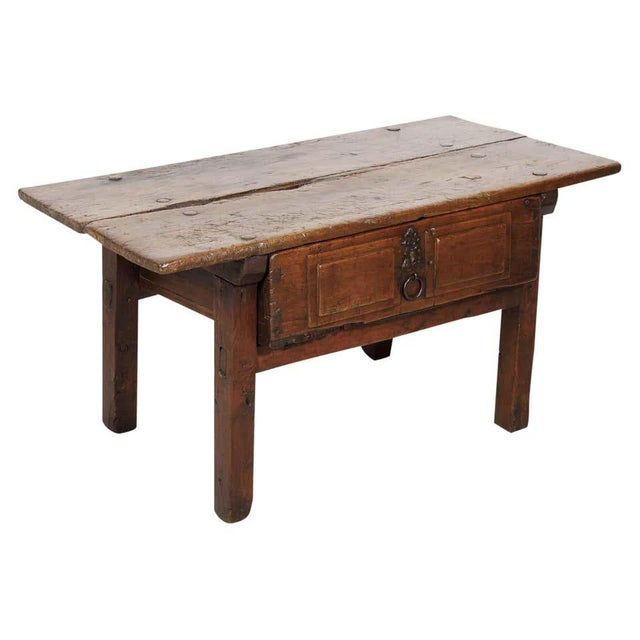 18th Century Solid Walnut Spanish Side Table For Sale - Image 13 of 13