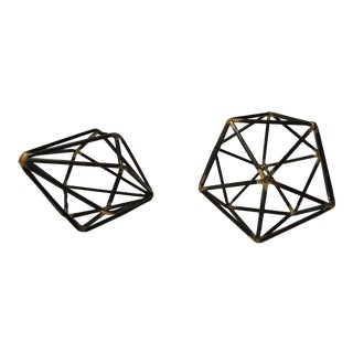 Decorative Geometric Iron Mini Sculptures For Sale
