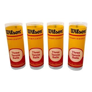 Wilson Tennis Ball Vintage Canister Glasses
