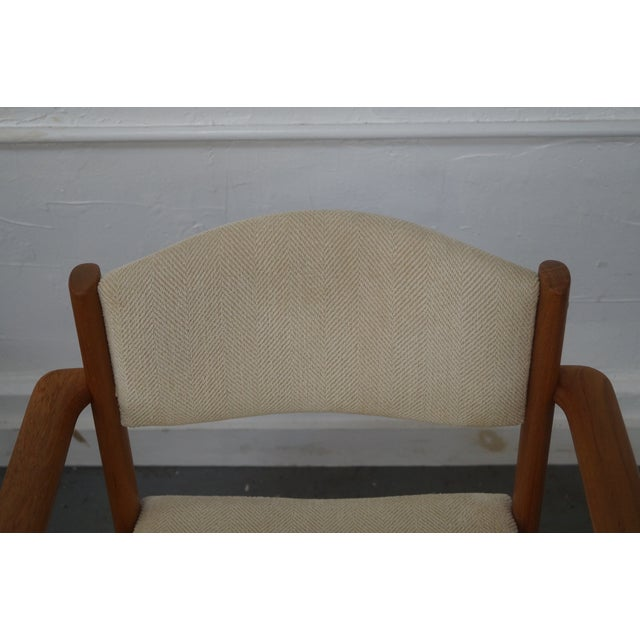 Danish Modern Teak Arm Chairs - Pair For Sale - Image 7 of 9