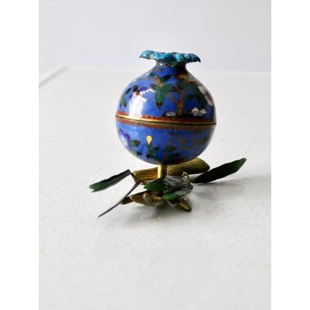 Antique Cloisonne Box For Sale - Image 11 of 12