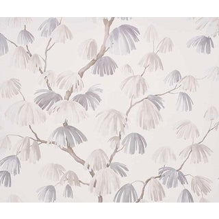 Sample - Schumacher Weeping Pine Wallpaper in Neutral For Sale