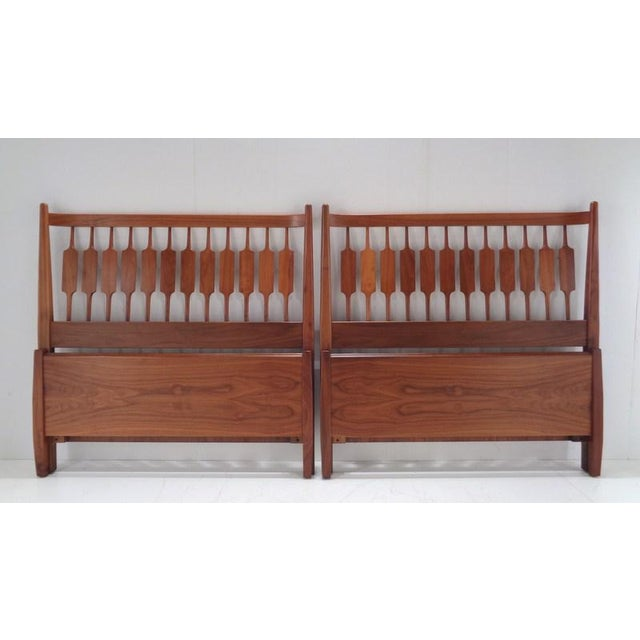 Kipp Stewart for Drexel Declaration Twin Beds ~ a Rare Pair For Sale - Image 13 of 13