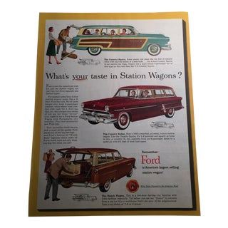 1953 Ford Station Wagons Print Ad For Sale
