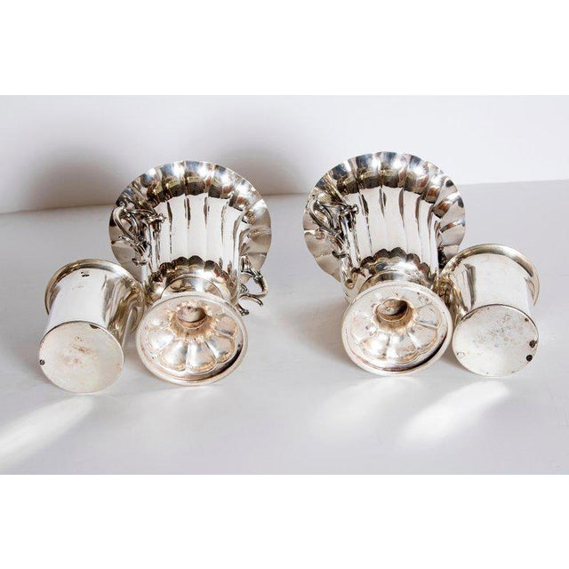 Mid-19th Century Pair of Silver Plate Ice Vases by Elkington & Co., England For Sale - Image 10 of 13