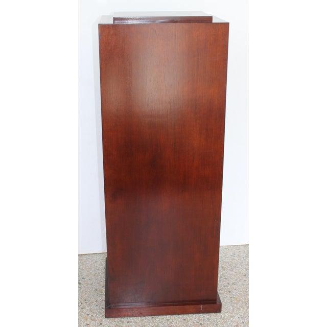 Vintage Mahogany Pedestal For Sale - Image 9 of 13