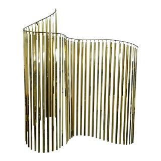 1980s Curtis Jere Kinetic Wave Brass Sculpture For Sale