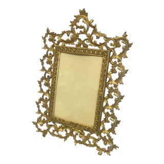 Early Gold Leaf Metal Frame