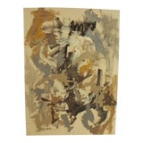 Image of Vintage Modern Mid Century Abstract Painting For Sale