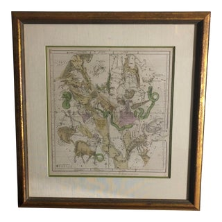 Antique Geography of the Heavens Sept, Aug, July Celestial Print For Sale