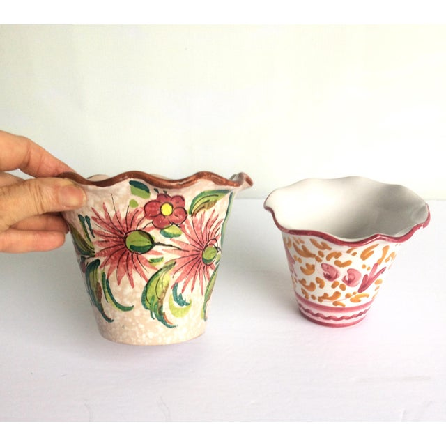 Fratelli Fanciullacci Mid Century Italian Pottery Vases - a Pair For Sale - Image 11 of 12