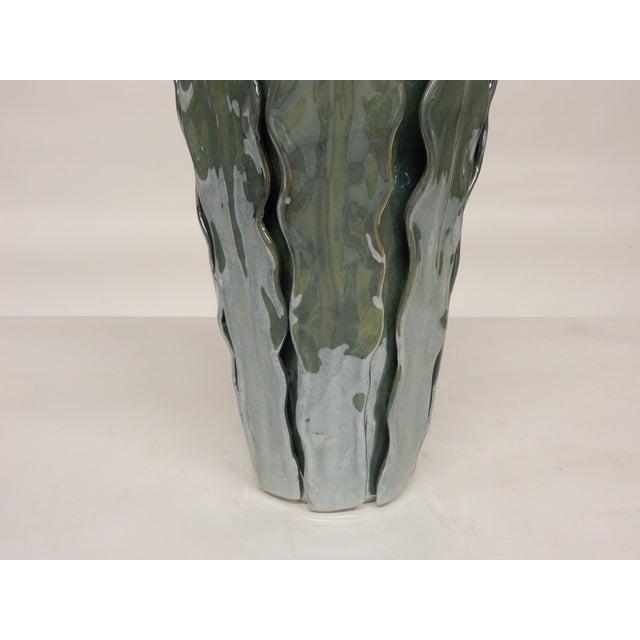 Contemporary Italian Art Ceramic Vase For Sale - Image 4 of 5