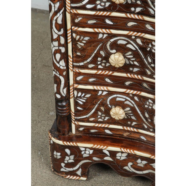 Wood Pair of Syrian Mother-Of-Pearl Inlay Nightstands For Sale - Image 7 of 10