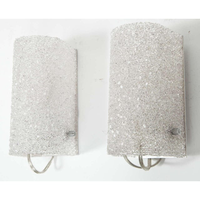 Brushed Nickel Beaded Sconces - A Pair For Sale - Image 4 of 4