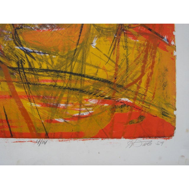Howard Foote, 1959 San Francisco Abstract Expressionist Print - Image 4 of 4