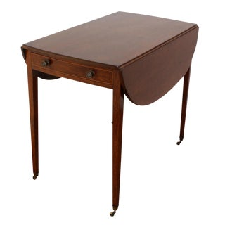 English Plum Pudding Oval Pembroke Table For Sale