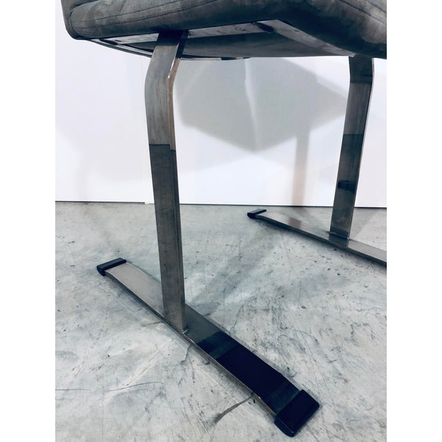 Silver Seven Giovanni Offredi for Saporiti Chrome Dining Chairs For Sale - Image 8 of 12