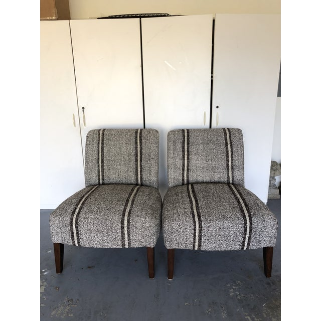 Pair of Upholstered Slipper Chairs For Sale In Tampa - Image 6 of 9