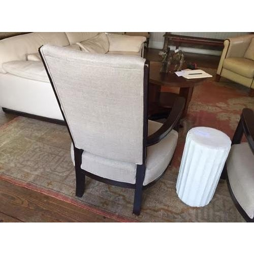 Contemporary Vintage Armchair From a French Hotel, Newly Recovered For Sale - Image 3 of 8