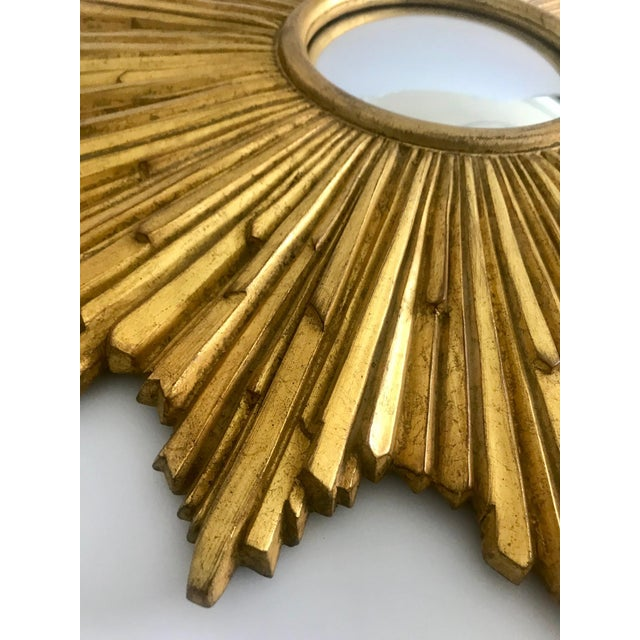 Exquisite Starburst Mirror With Antique Gold Leaf Finish For Sale - Image 9 of 13