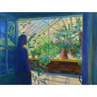 "Contemporary Large Painting, ""The Greenhouse"", by Stephen Remick For Sale"
