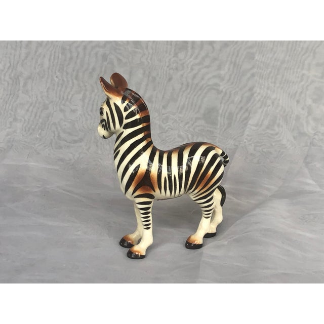 1950s Mid-Century Modern Fern Importation Ceramic Zebra Figurine For Sale - Image 5 of 12