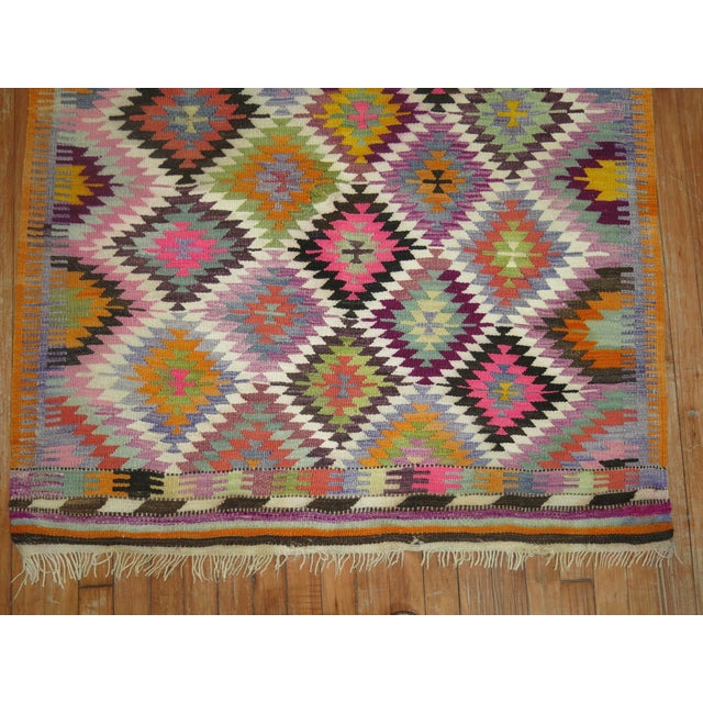 Vintage Flat Weave Kilim Rug - 3'9'' X 4'6'' For Sale In New York - Image 6 of 8
