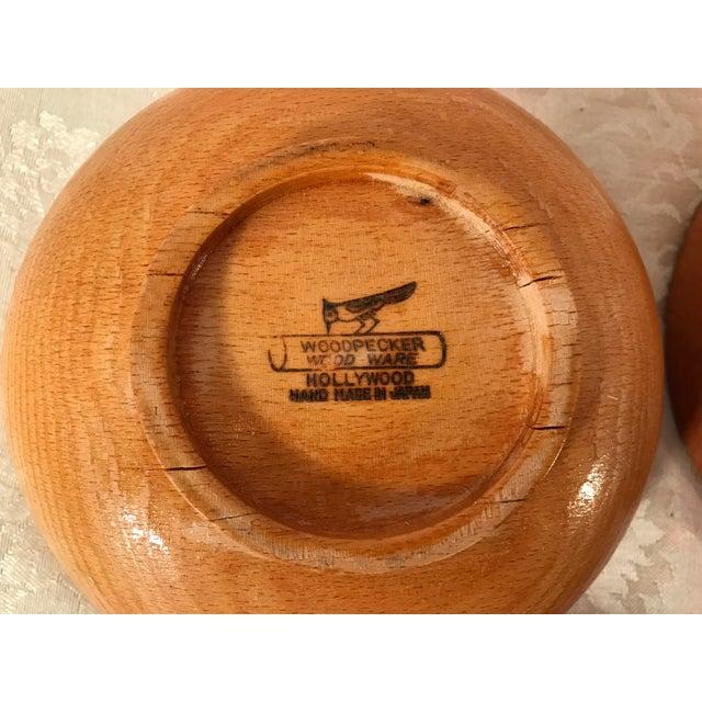 Mid-Century Modern Wooden Salad Bowls - Set of 7 - Image 6 of 11