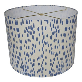 Cadet Blue Les Touches Drum Lampshade For Sale