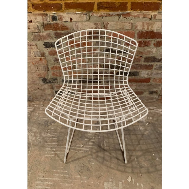 Mid-Century Modern Vintage Mid Century Knoll Bertoia White Side Chairs - Set of 4 For Sale - Image 3 of 13