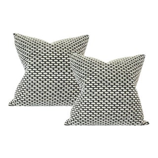 "Pebble Onyx Pillow Covers - a Pair 17""sq"