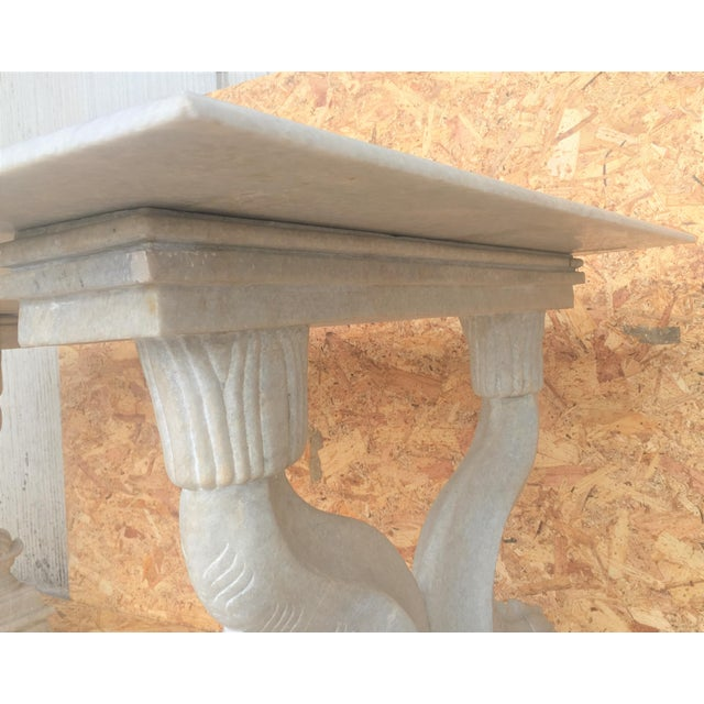 19th Italian Center or Dining Table in Carrara Marble For Sale - Image 9 of 13