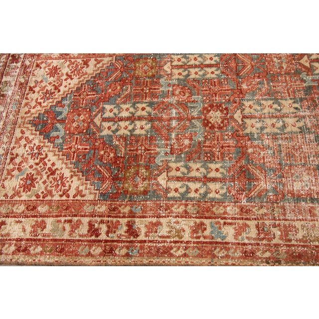 "Apadana-Antique Persian Distressed Rug, 3'4"" X 13'7"" For Sale - Image 9 of 11"
