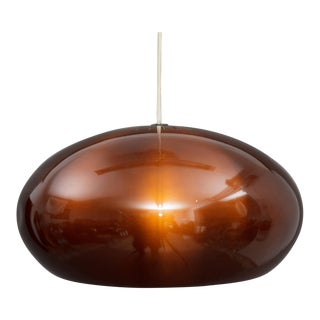 1960s Danish Modern Jo Hammerborg Medio Copper Lamp For Sale