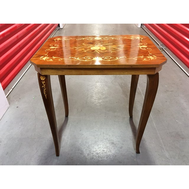 Italian Inlay Side Table For Sale - Image 4 of 5