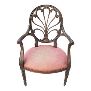 Hickory Chair Anthemion Fauteuil Mahogany Scroll Armchair James River Collection For Sale