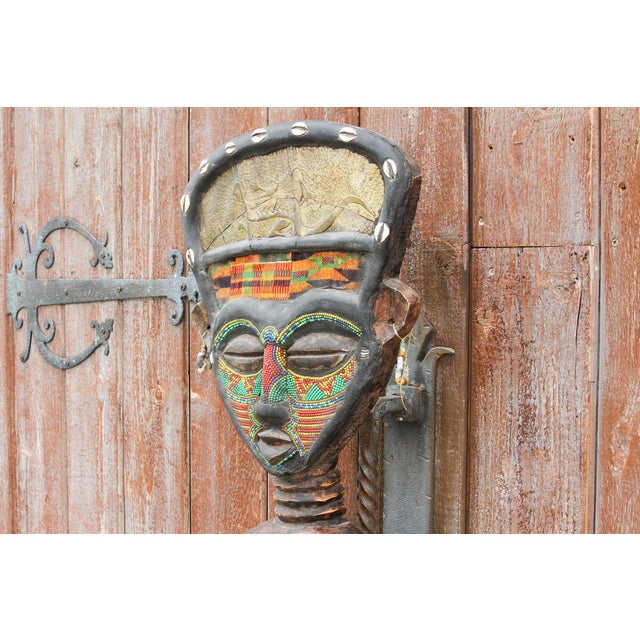 Mid 20th Century Bamum African Large Tribal Statue For Sale - Image 5 of 11