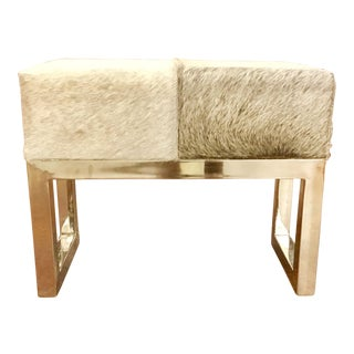 Interlude Moro Hide Stool