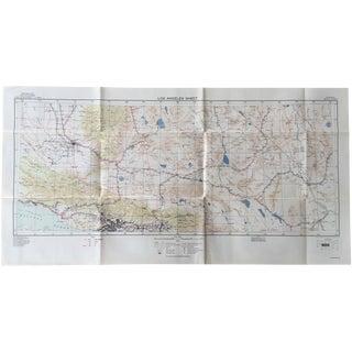 Wwii Era u.s. Army Map - 1939 Los Angeles Sheet