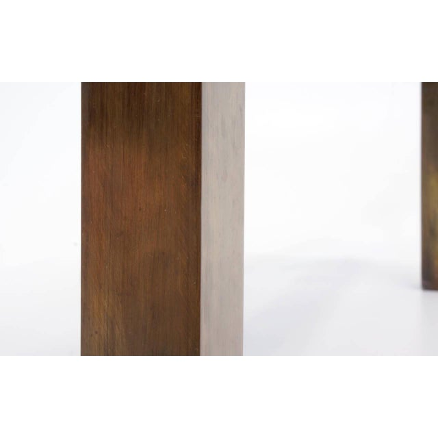 Bronze Coffee Table by Philip and Kelvin LaVerne For Sale - Image 9 of 10