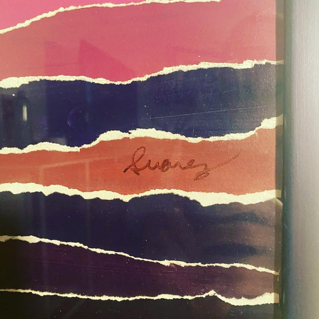 Vintage Mixed Media Painting For Sale In Raleigh - Image 6 of 7