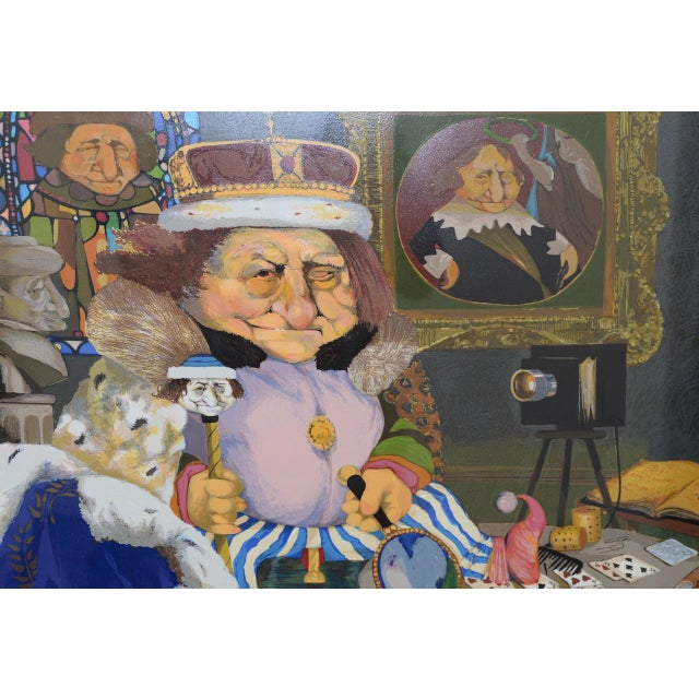 """Illustration Charles Bragg """"King of Me's"""" Limited Edition Signed Serigraph For Sale - Image 3 of 11"""