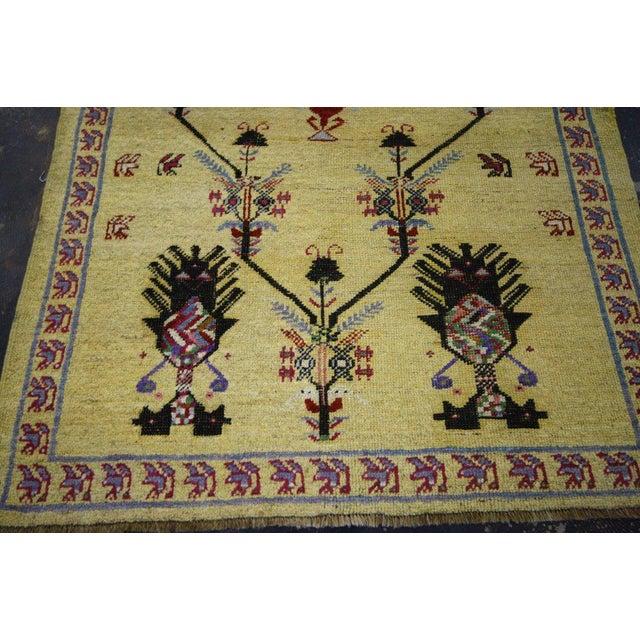 Textile Vintage Turkish Oushak Rug with Modern Style, Yellow Oushak Rug For Sale - Image 7 of 10