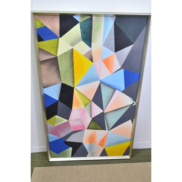 Bungalow 5 Hearst Hand Painted Silk Panel Metal Frame Multi Colors to brighten any Room. The Hearst silk painting is a...