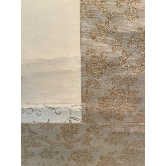1900 - 1909 Japanese Ink and Wash Scroll Painting by Watanabe Seitei For Sale - Image 5 of 13