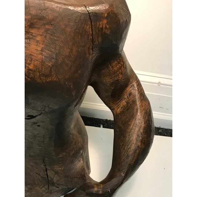 Modern Dramatic Sycamore Wood Sculpture of a Man's Figure For Sale - Image 3 of 8